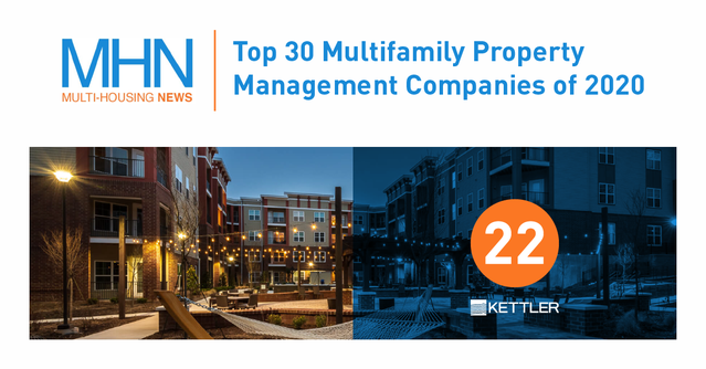 KETTLER Recognized in Top 30 Multifamily Property Management Companies of 2020