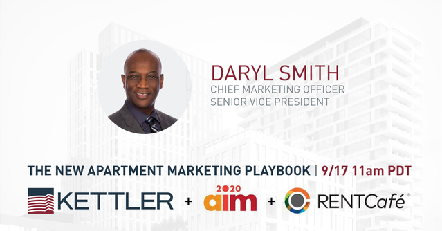 KETTLER CMO, Daryl Smith to speak on AIM & Yardi's 'The New Apartment Marketing Playbook'