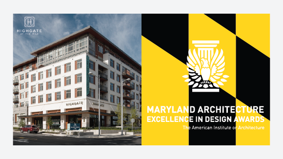 Highgate at the Mile Honored with the Merit Award for Residential Architecture at the AIA Maryland Excellence in Design Awards