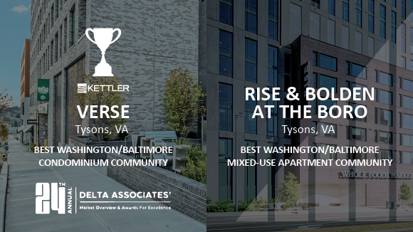 Delta Associates Honors 4 KETTLER Communities at the 24th Annual Multifamily Awards for Excellence
