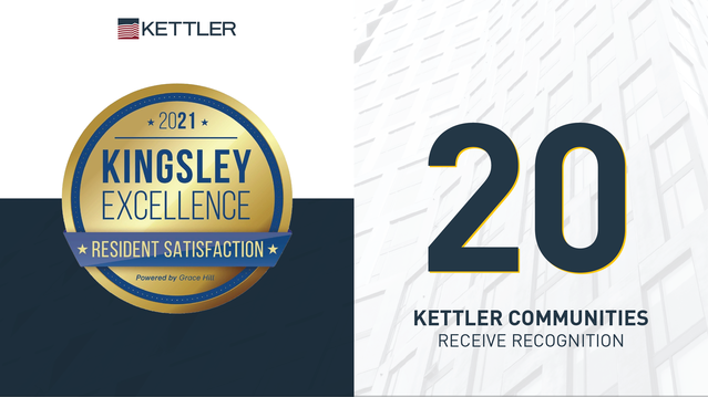 KETTLER Announces 20 Community Recipients of the 2021 Kingsley Excellence Award